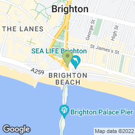 Map of Royal Albion Hotel in Brighton, east sussex