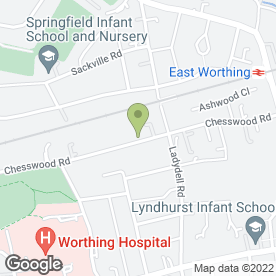 Map of The Dolphins Day Nursery in Worthing, west sussex
