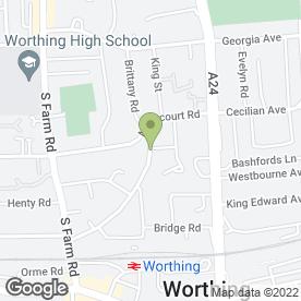 Map of Simon Redhead Photography in Worthing, west sussex