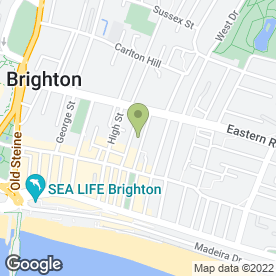 Map of Hudsons Guest House in Brighton, east sussex