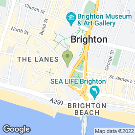 Map of Gunns in Brighton, east sussex