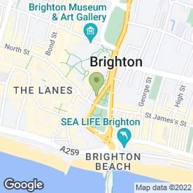 Map of Venus Hair Design in Brighton, east sussex
