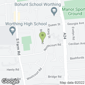 Map of Backyard Bouncers in Worthing, west sussex