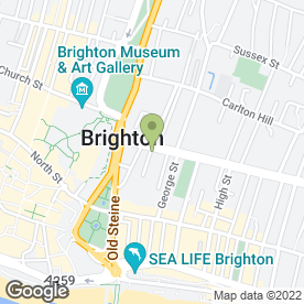 Map of Curry Hut Takeaway in Brighton, east sussex