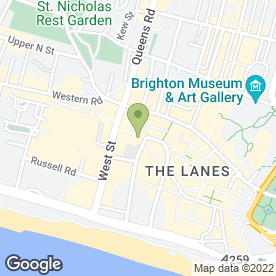 Map of Heals in Brighton, east sussex