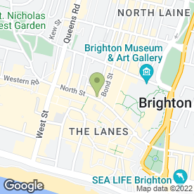 Map of Greggs in Brighton, east sussex