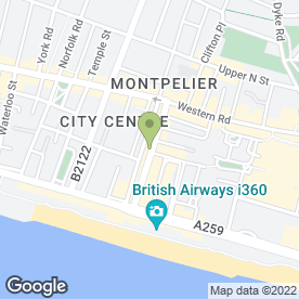 Map of Aberdeen Steak House in Brighton, east sussex
