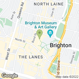 Map of The Colonnade in Brighton, east sussex