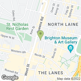 Map of The Earth & Stars in Brighton, east sussex