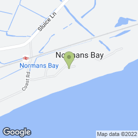 Map of Normans Bay Caravan Park in Normans Bay, Pevensey, east sussex
