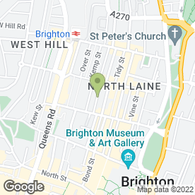 Map of The Boutique Drinks Co in Brighton, east sussex