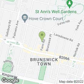 Map of Beechwood Tree Specialists in Hove, east sussex