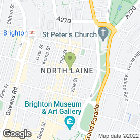 Map of Shine Hair Group in Brighton, east sussex