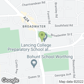 Map of BROADWATER MANOR SCHOOL in Worthing, west sussex