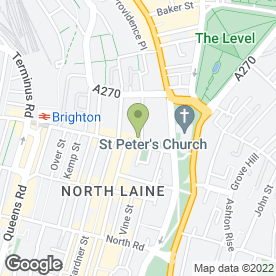 Map of City College Brighton & Hove in Brighton, east sussex