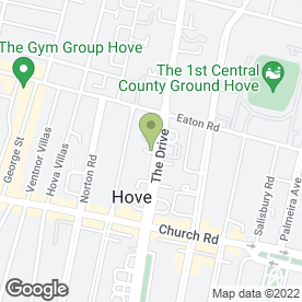 Map of SUSSEX TRAVEL CLINIC in Hove, east sussex