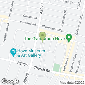 Map of YELBOC & FARNCOMBE GARAGE in Hove, east sussex