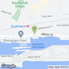 Map of SOUTHWICK PRINT SHOP in Southwick, Brighton, east sussex