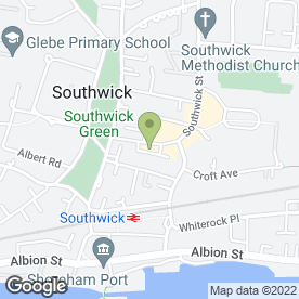 Map of Bubbles in Southwick, Brighton, east sussex