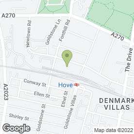 Map of The Rox School of Dance & Drama in Hove, east sussex