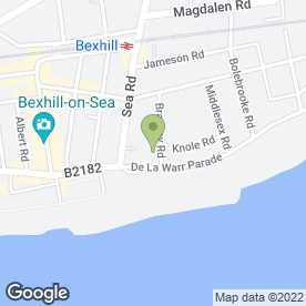 Map of NORMANHURST in Bexhill-On-Sea, east sussex