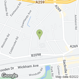 Map of Claremont Veterinary Group Ltd in Bexhill-On-Sea, east sussex