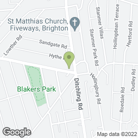 Map of Forfars Bakers Ltd in Brighton, east sussex