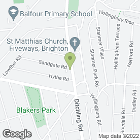 Map of Nicky's Hair Studio in Brighton, east sussex