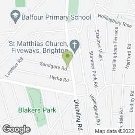 Map of Fiveways Arts & Crafts in Brighton, east sussex