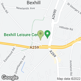Map of Bexhill High School Nursery in Bexhill-On-Sea, east sussex