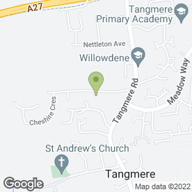 Map of Tangmere Medical Centre in Tangmere, Chichester, west sussex