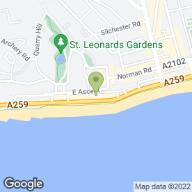 Map of Action for Change in St. Leonards-On-Sea, east sussex