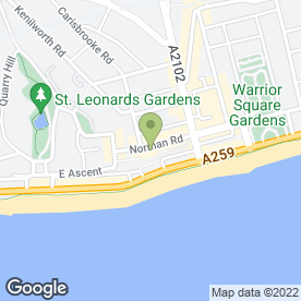 Map of Patrick Robbins Interiors And Oriental Rugs in St Leonards-On-Sea, east sussex
