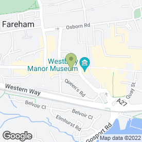 Map of Hampshire Sewing Machines in Fareham, hampshire