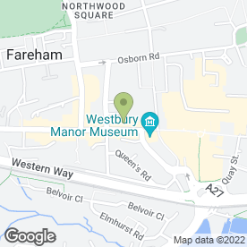 Map of Cheltenham & Gloucester plc in Fareham, hampshire