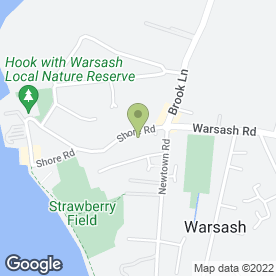Map of Pawsome Pet Supplies in Warsash, Southampton, hampshire