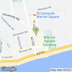 Map of R D P Chartered Architect in St Leonards-On-Sea, east sussex