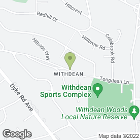 Map of S.B Promotions in Withdean, Brighton, east sussex