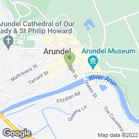 Map of ARUNDEL SWAN HOTEL in Arundel, west sussex