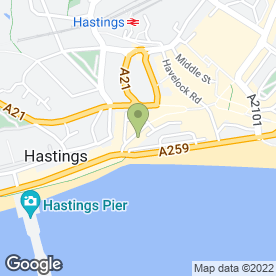 Map of Bullet Coffee House in Hastings, east sussex