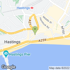 Map of Cafe Des Arts in Hastings, east sussex