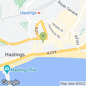 Map of ADA Restaurant in Hastings, east sussex