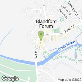 Map of Allinghams in Blandford Forum, dorset