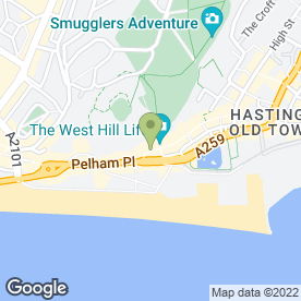 Map of J.C.F Jewellery in Hastings, east sussex