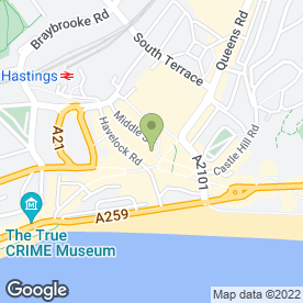 Map of Caffe Nero in Hastings, east sussex
