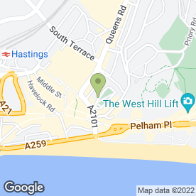 Map of RELAX IN HARMONY in Hastings, east sussex