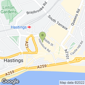 Map of Your Move in Hastings, east sussex