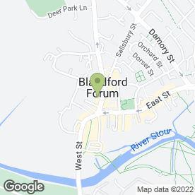 Map of Blandford Health & Beauty Centre in Blandford Forum, dorset