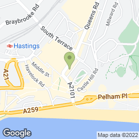 Map of CURTAINS FOR YOU in Hastings, east sussex