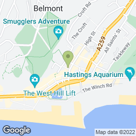 Map of The Jenny Lind Inn in Hastings, east sussex